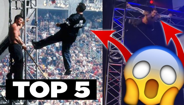TOP 5 moments EXTRÊMES à la WWE 🤥